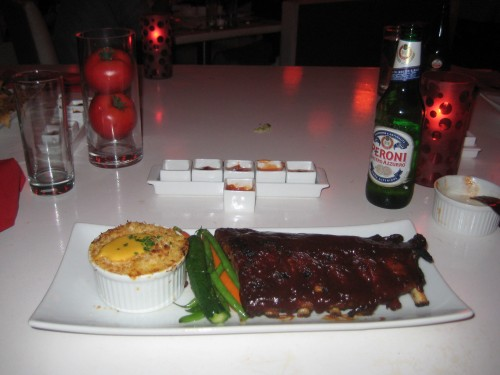 "BBQ Baby Back Ribs with Mac ""n"" Cheese"