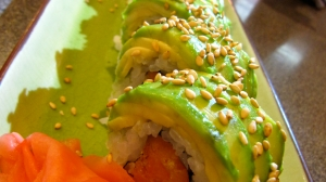 Veggie Dragon Roll with Avocado
